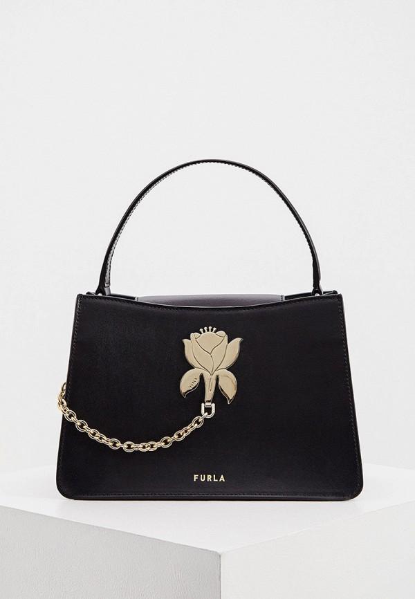 женская сумка с ручками furla, черная