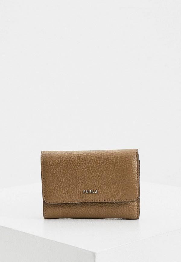 женский кошелёк furla, коричневый