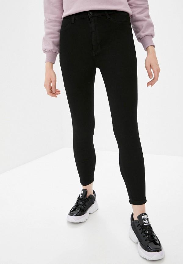 женские джинсы скинни sela, черные