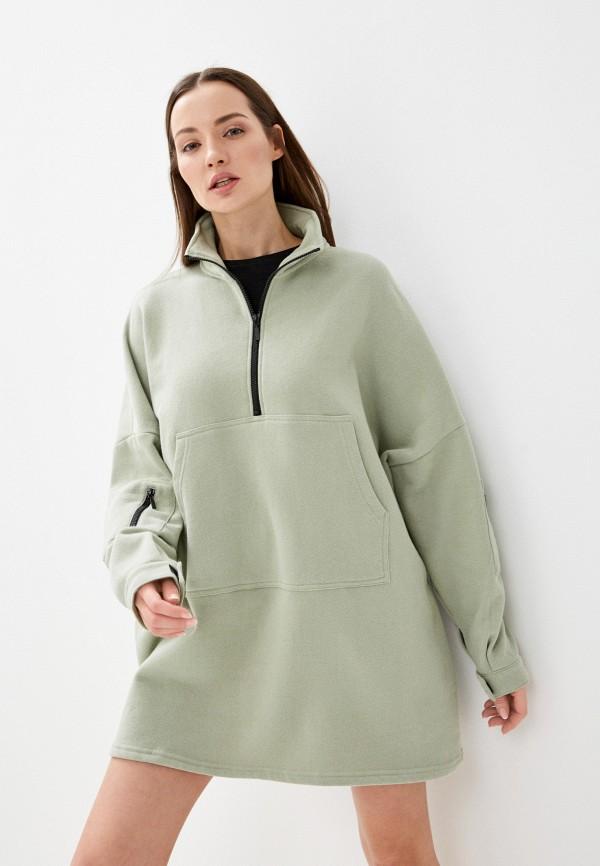 женское платье-толстовки sela, зеленое