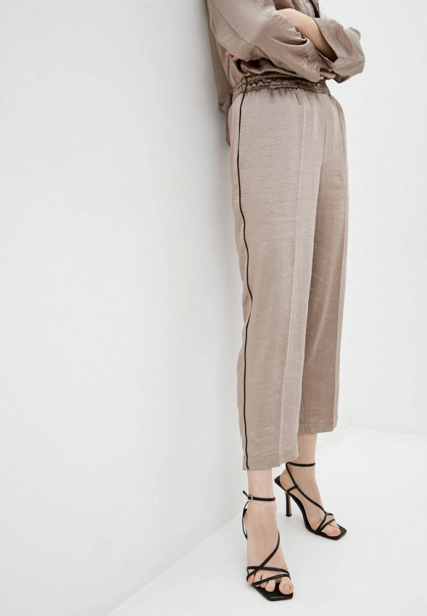 женские повседневные брюки week, бежевые