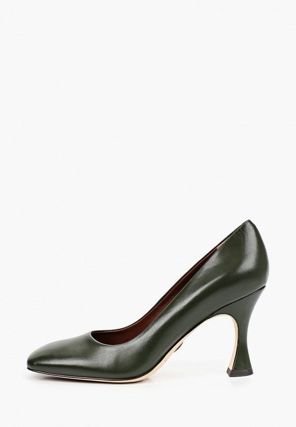 женские туфли-лодочки alla pugachova, зеленые