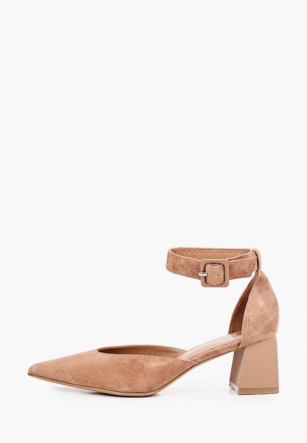 женские туфли эконика, коричневые