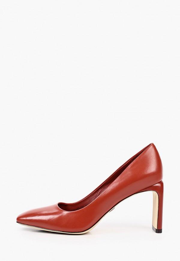 женские туфли с закрытым носом alla pugachova, коричневые