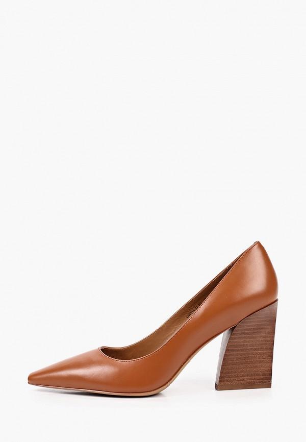 женские туфли-лодочки эконика, коричневые