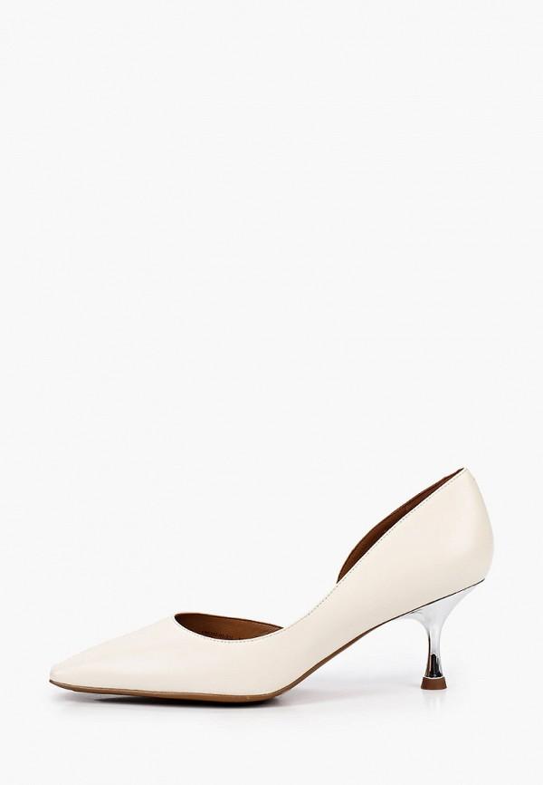женские туфли эконика, белые