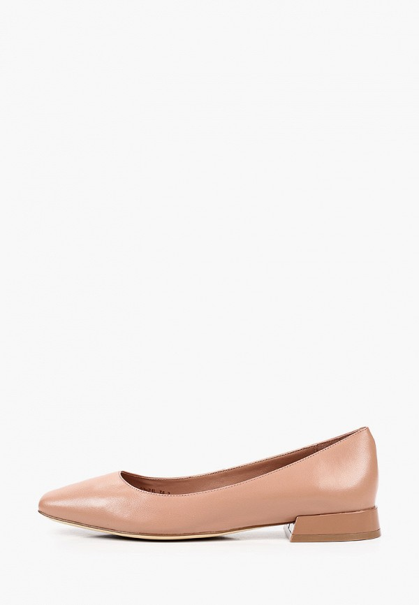 женские туфли с закрытым носом alla pugachova, бежевые