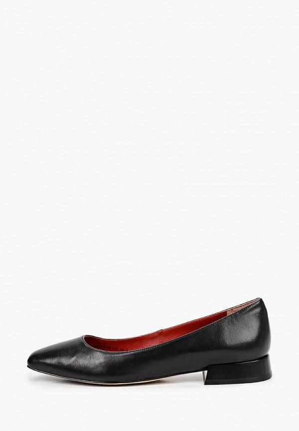 женские туфли с закрытым носом alla pugachova, черные