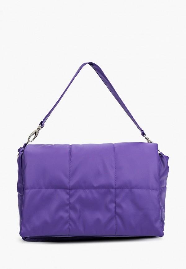 женская сумка с ручками wooly's, фиолетовая