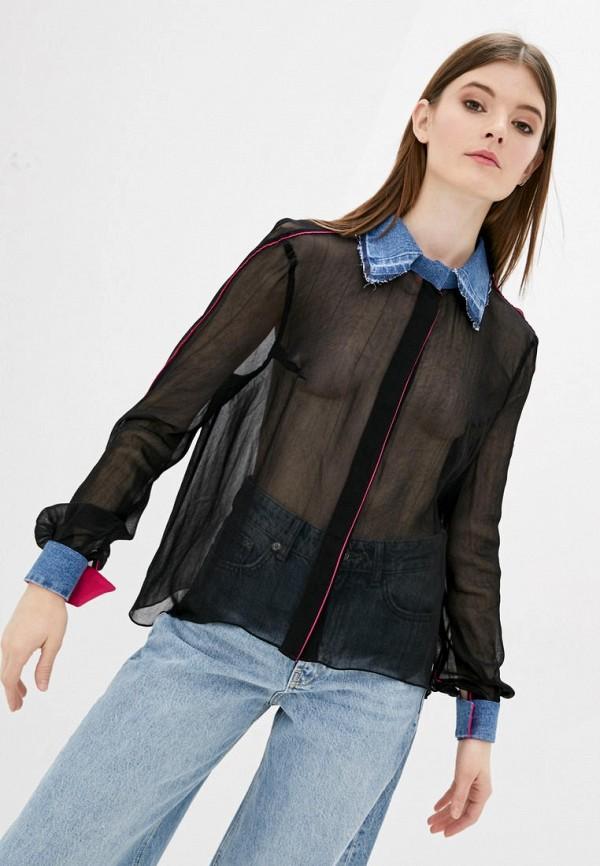 женская блузка whynotdenim, черная