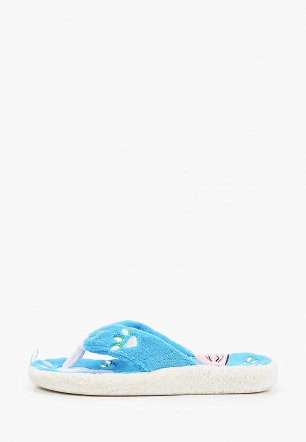 женские тапочки tingo, голубые