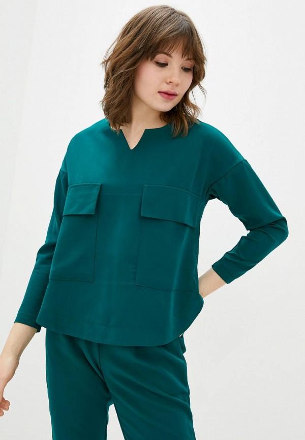 женская блузка garne, бирюзовая