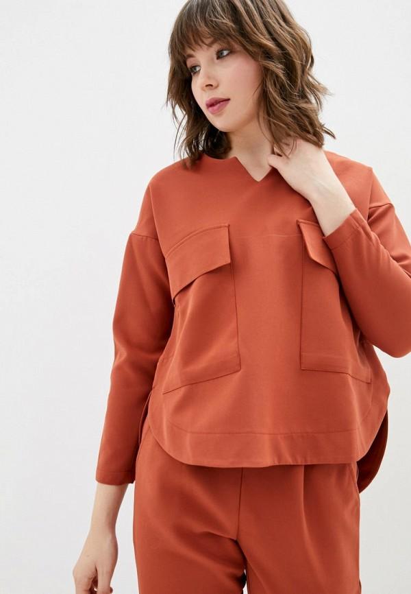 женская блузка garne, оранжевая