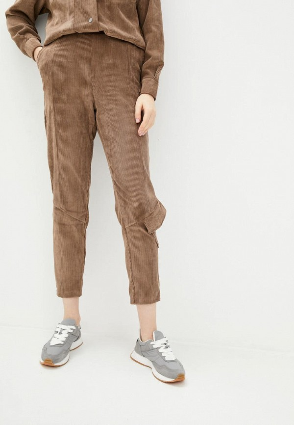 женские зауженные брюки garne, бежевые