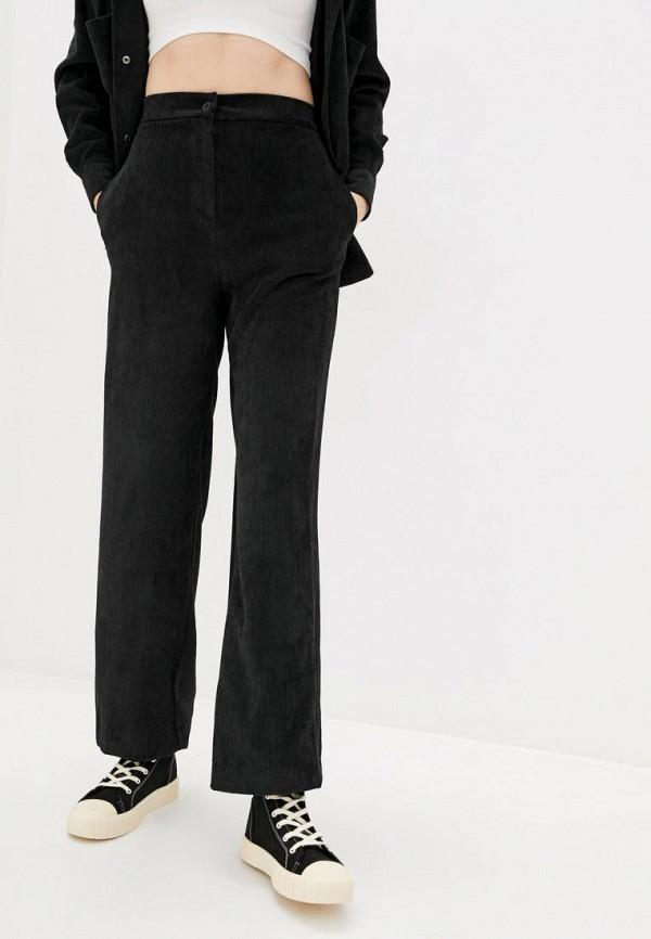 женские брюки клеш garne, черные