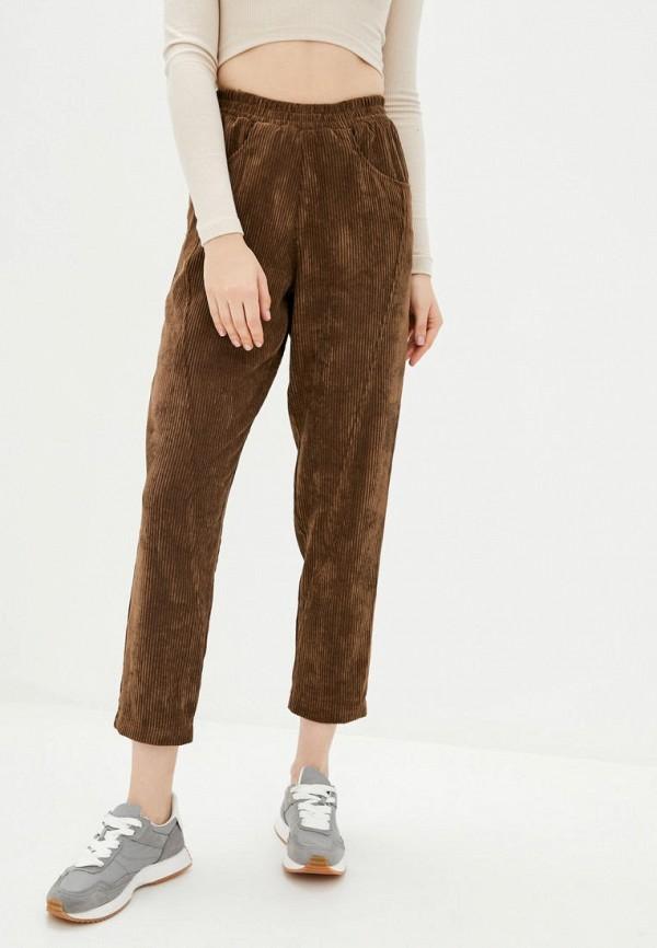 женские прямые брюки garne, коричневые