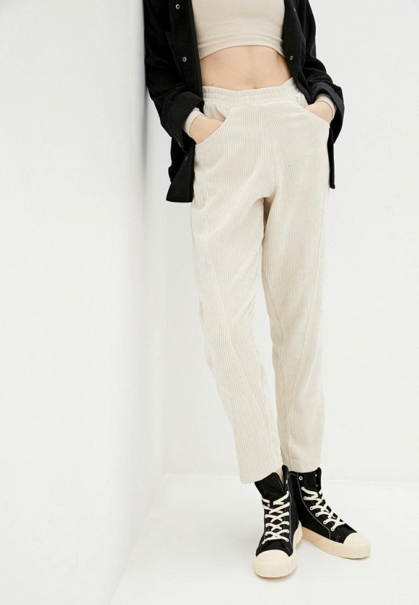 женские прямые брюки garne, бежевые