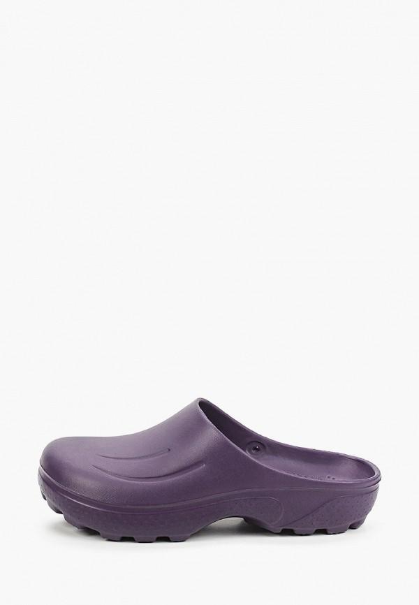 женское сабо evart, фиолетовое