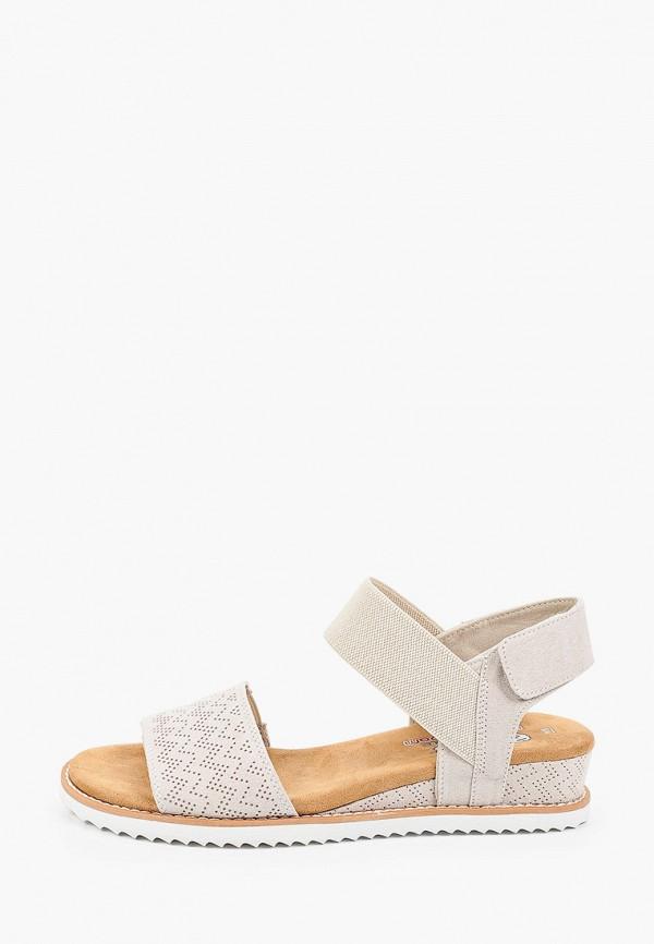 женские сандалии skechers, бежевые