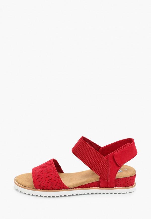 женские сандалии skechers, красные