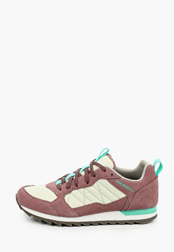 женские низкие кроссовки merrell, бордовые