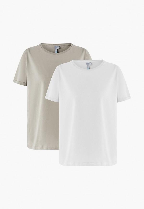 женская футболка befree, разноцветная