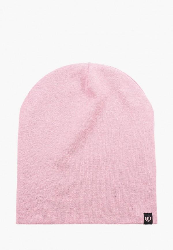 женская шапка coompol, розовая