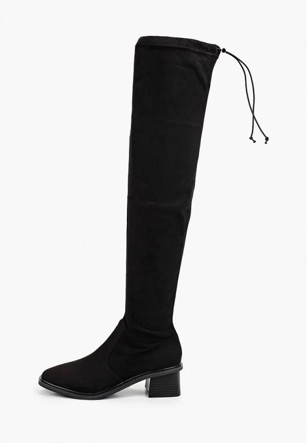 женские ботфорты topshop, черные