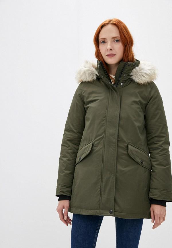 женская куртка tommy hilfiger, зеленая