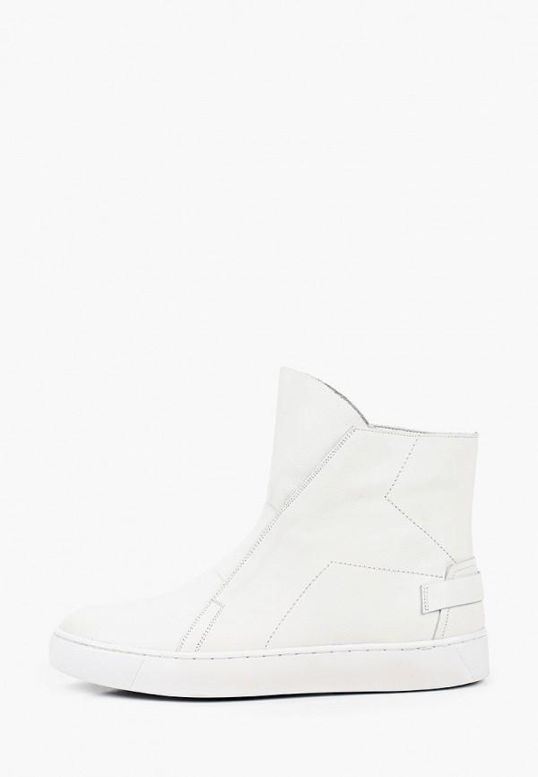 женские высокие ботинки mascotte, белые