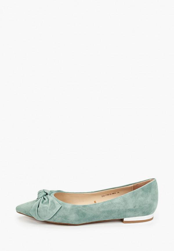 женские туфли с закрытым носом mascotte, зеленые