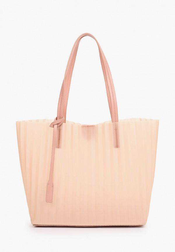 женская сумка с ручками mascotte, розовая