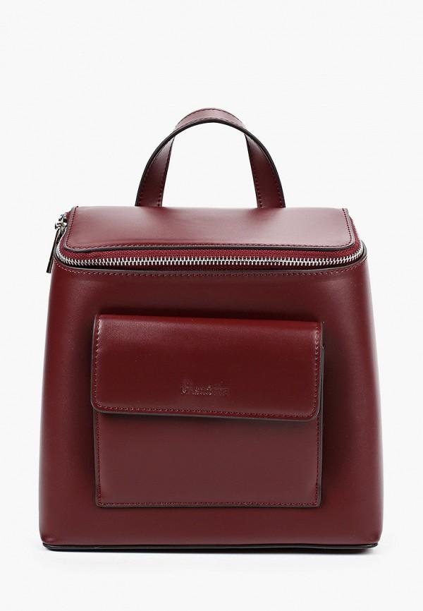 женский рюкзак mascotte, бордовый