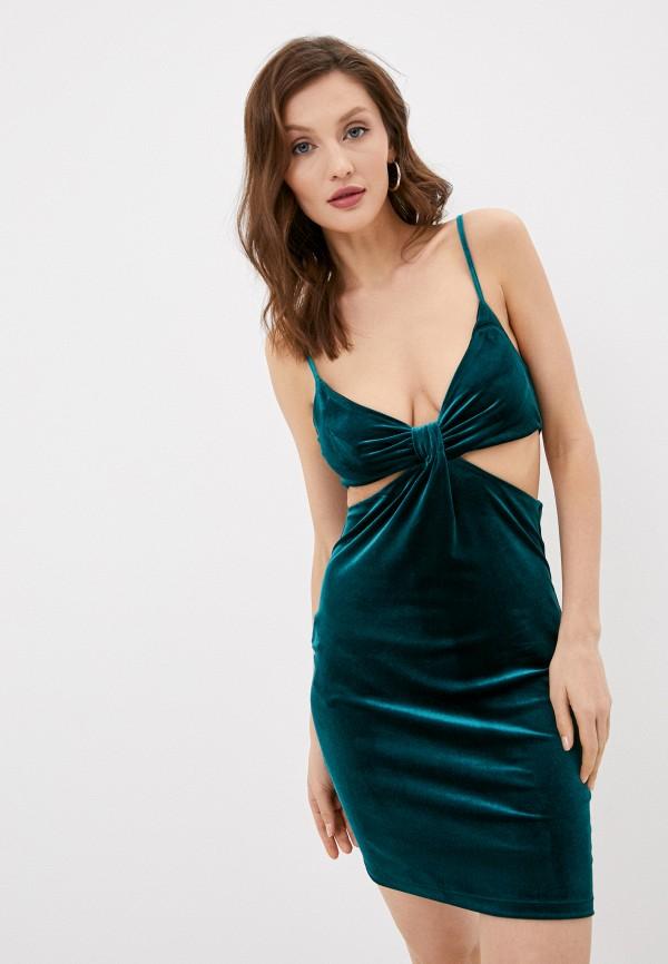 женское вечерние платье topshop, зеленое