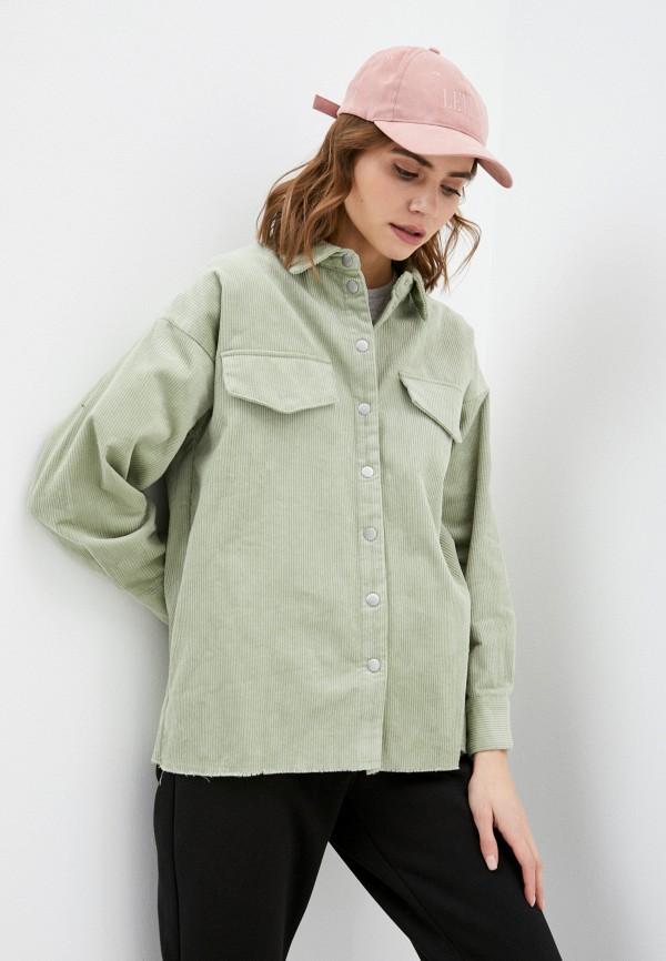 женская рубашка с длинным рукавом sela, зеленая