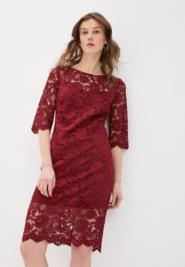 женское вечерние платье rodionov, бордовое