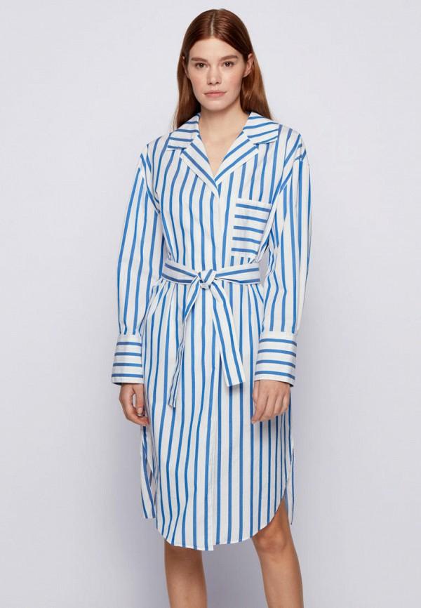 женское платье-рубашки boss, голубое