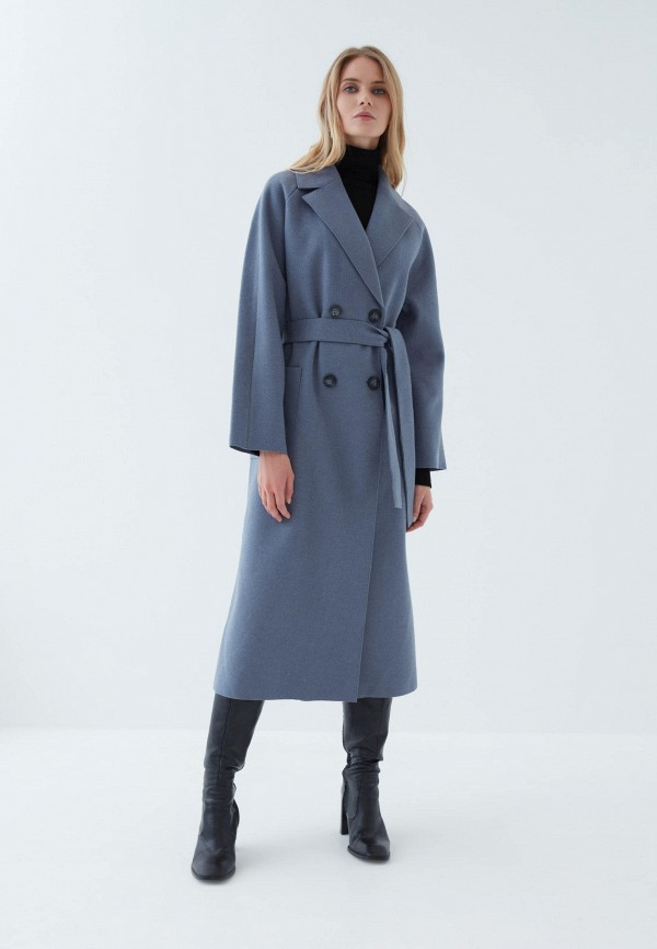 женское двубортные пальто zarina, синее