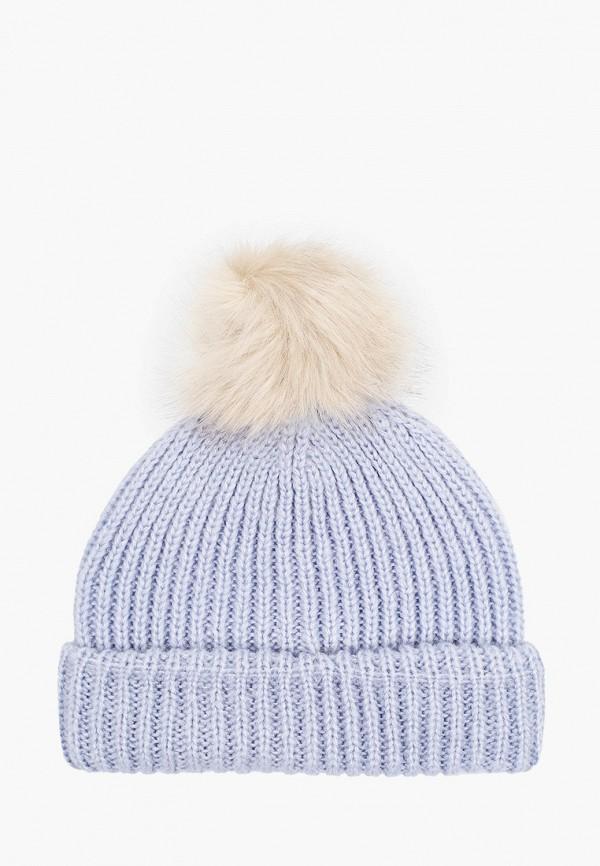 женская шапка topshop, голубая