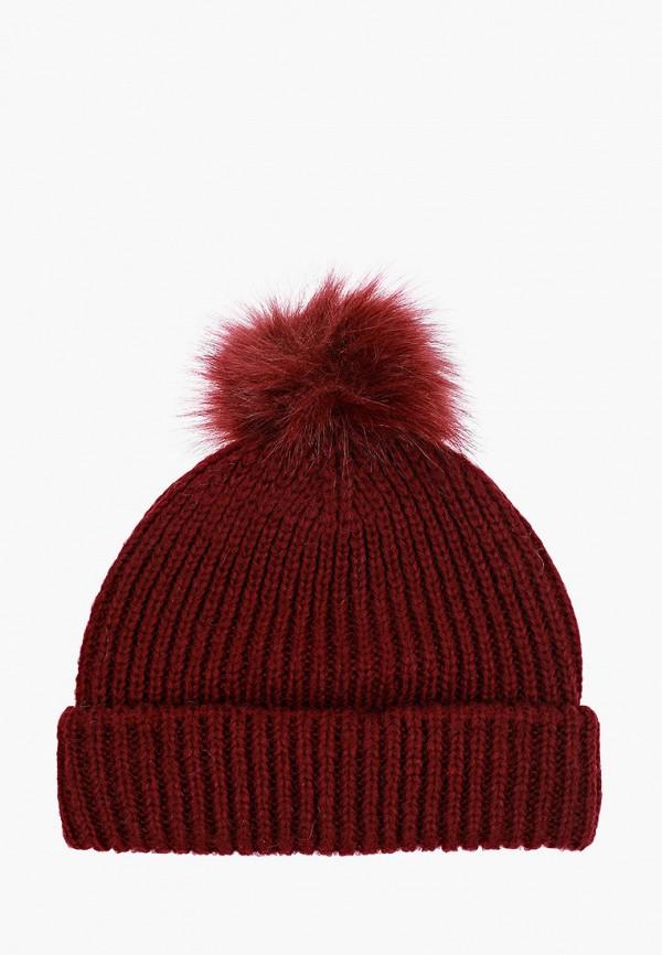 женская шапка topshop, бордовая