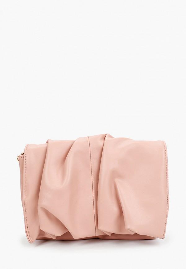 женская сумка через плечо topshop, розовая