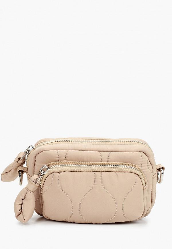 женская сумка через плечо topshop, бежевая