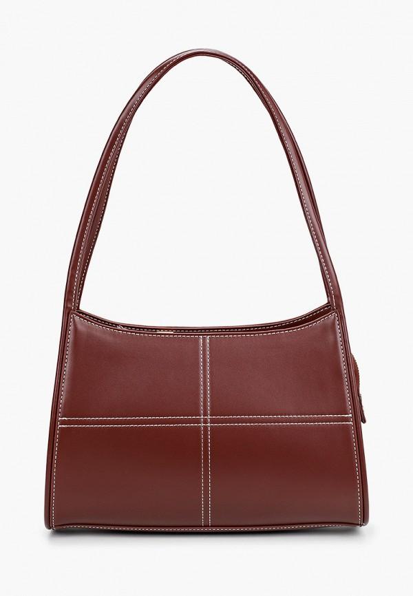 женская сумка с ручками topshop, бордовая