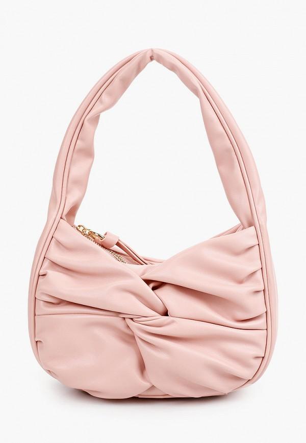 женская сумка с ручками topshop, розовая