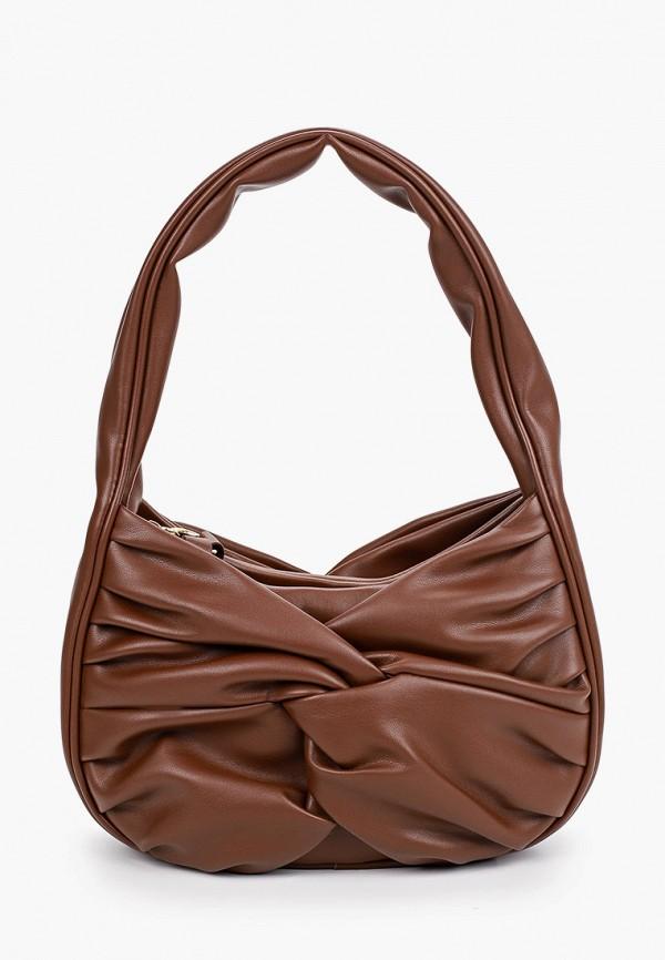 женская сумка с ручками topshop, коричневая
