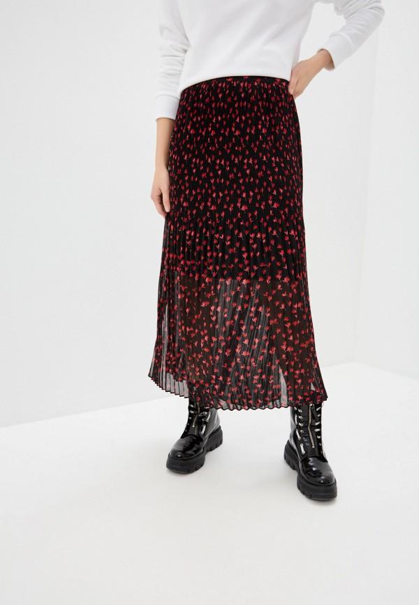 женская плиссированные юбка hugo, черная