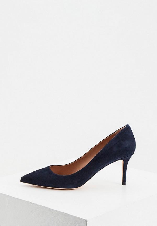 женские туфли boss, синие