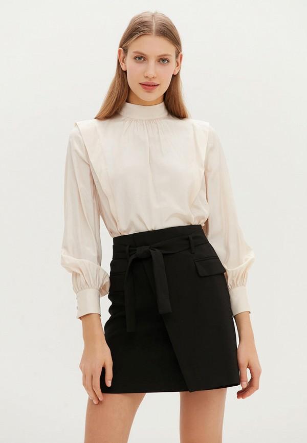 женская блузка с длинным рукавом love republic, бежевая