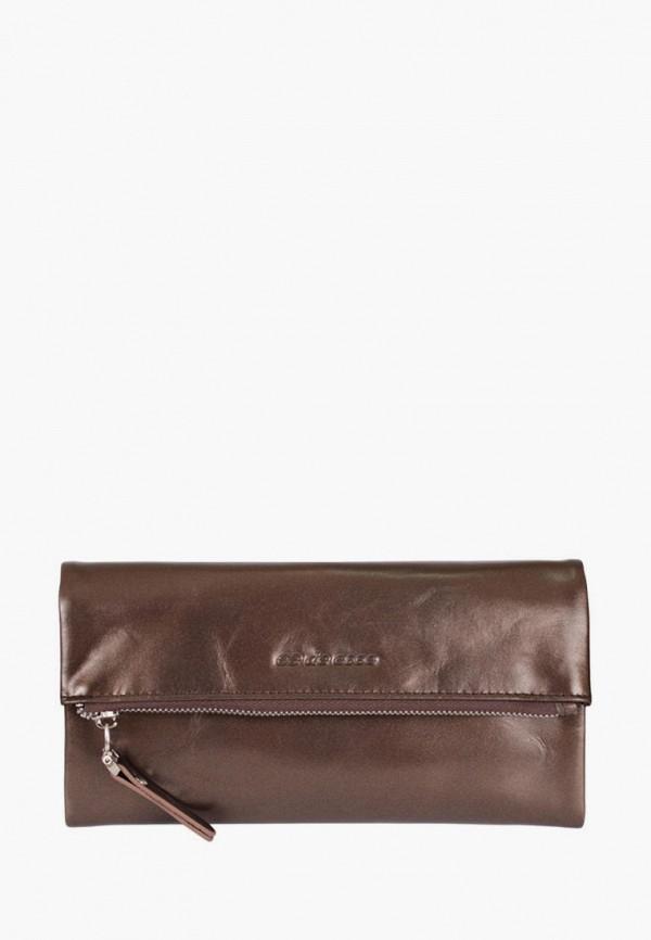 женский кошелёк de esse, коричневый