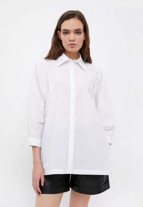 женская рубашка с длинным рукавом finn flare, белая